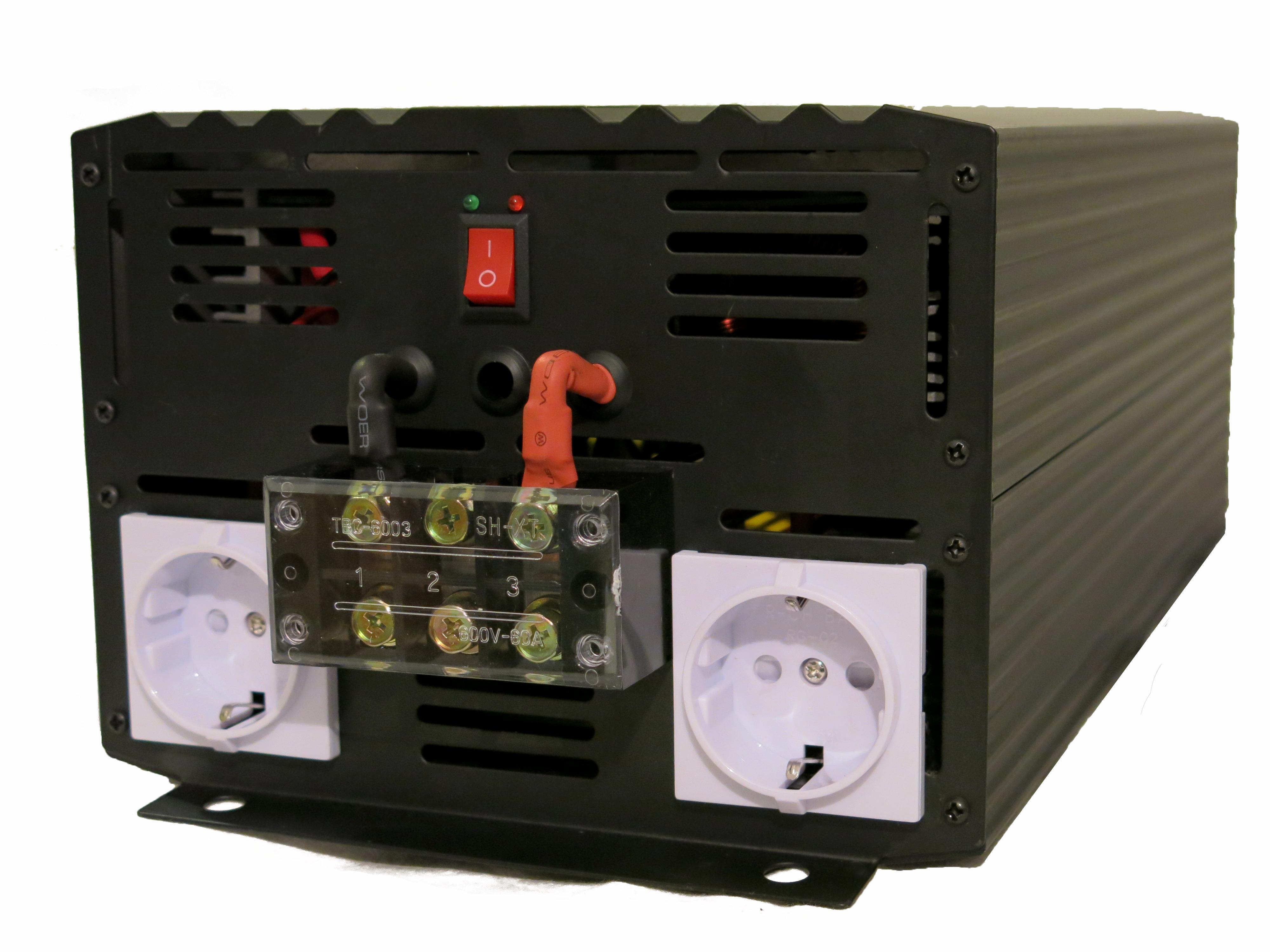 Elektron Inverter   Växelriktare 12VDC 230VAC 3000W - Inverterbutiken.se 332ad783bed4a
